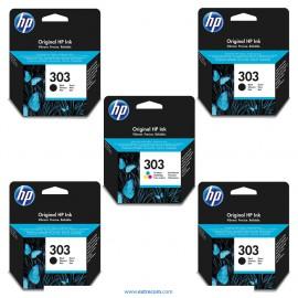 HP 303 pack 5 unidades original