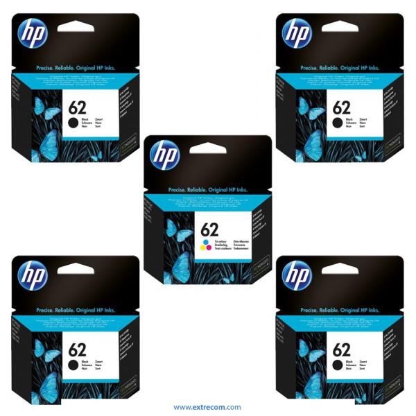 HP 62 pack 5 unidades original