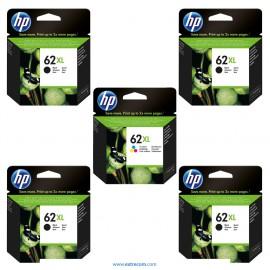 HP 62 XL pack 5 unidades original