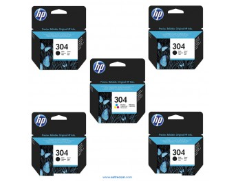 HP 304 pack 5 unidades original