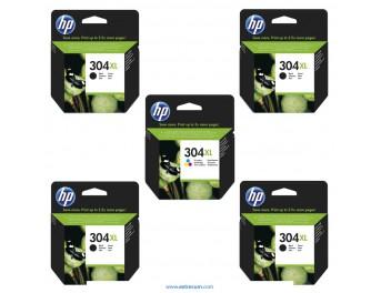 HP 304 XL pack 5 unidades original
