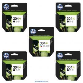 HP 304 XL pack 5 unidades compatible