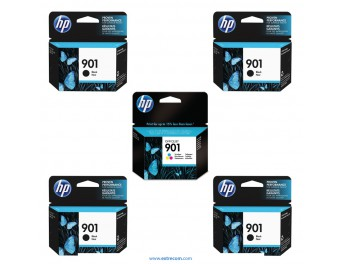 HP 901 pack 5 unidades original