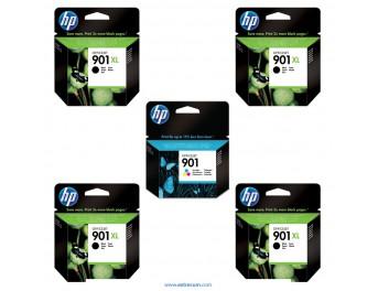 HP 901 XL pack 5 unidades original