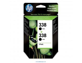 HP 338 pack 2 unidades negro original