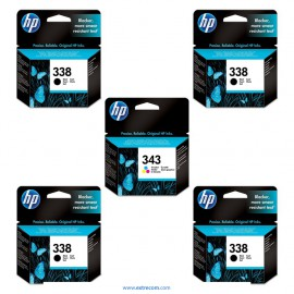 HP 338/343 pack 5 unidades