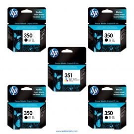 HP 350/351 pack 5 unidades original