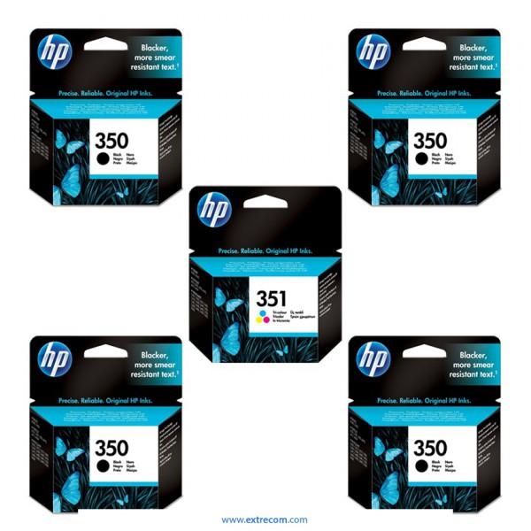 HP 350/351 pack 5 unidades original