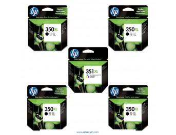 HP 350/351 XL pack 5 unidades original