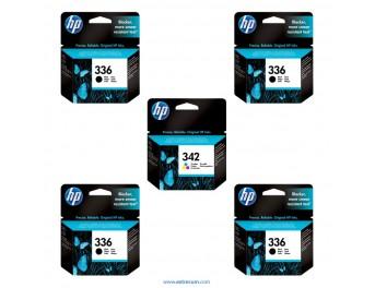 HP 336/342 pack 5 unidades original