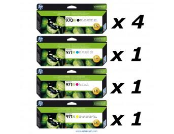 HP 970/971 XL pack 7 unidades original
