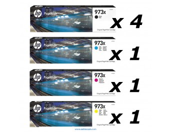 HP 973X pack 7 unidades original