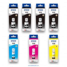 Epson 105-106 pack 7 unidades original