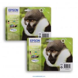 Epson T0895 2x pack 4 colores origina
