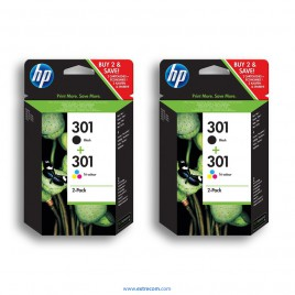 HP 301 2x pack 2 unidades original