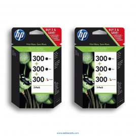 HP 300 2x pack 3 unidades original