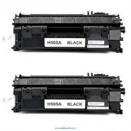 HP 05A pack 2 unidades negro compatible