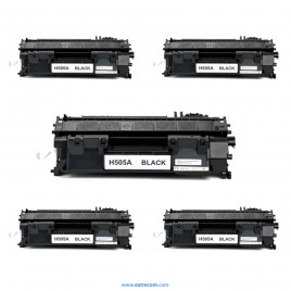 HP 05A pack 5 unidades negro compatible