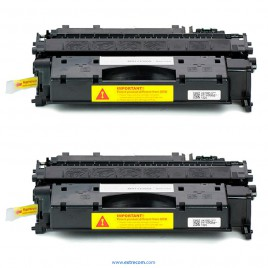 HP 05X pack 2 unidades negro compatible