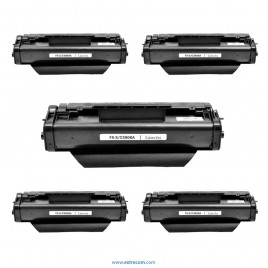 HP 06A pack 5 unidades negro compatible