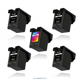 HP 301 pack 5 unidades compatible