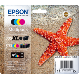 Epson  603XL/603 pack 4 unidades original